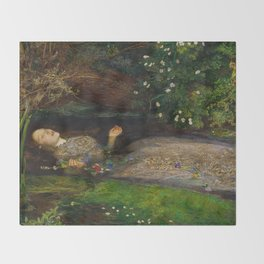 John Everett Millais - Ophelia Throw Blanket