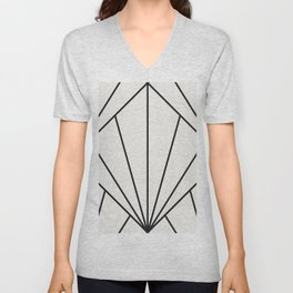 Diamond Series Sun Burst Charcoal on White Unisex V-Neck