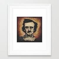 poe Framed Art Prints featuring Poe by Colunga-Art