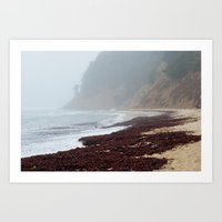 Foggy Moss Beach Photo Print Art Print