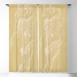 Flying Putto Supporting a Crown by Anton Domenico Gabbiani Blackout Curtain