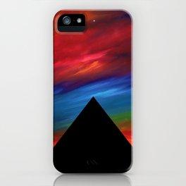 Fire Sky - Pyramids Silhouette iPhone Case