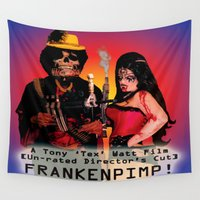 android Wall Tapestries featuring Frankenpimp (2009) - Movie Poster by Tex Watt