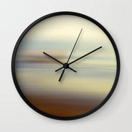 Ocean wind. Abstract sea blurred design Wall Clock