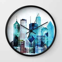 Chicago Illinois Cityscape Wall Clock