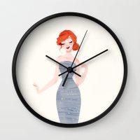 ariel Wall Clocks featuring Ariel by punziella