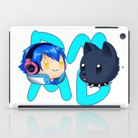 dmmd iPad Cases featuring DMMD- chibi Aoba and Ren by prpldragon