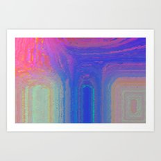 Pastel Houses Art Print