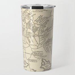 Vintage Map of Hampton Beach NH (1892) Travel Mug