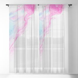 Splash Pattern Sheer Curtain