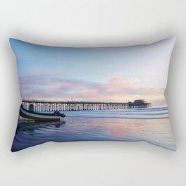 Dory Sunset Newport Beach Pier Rectangular Pillow
