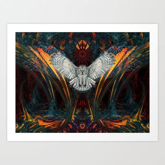 The Great Grey Owl Art Print