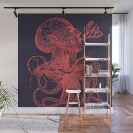 Octopussy Man under the Sea Abstract Concept Art Wall Mural