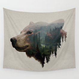 The Pacific Northwest Black Bear Wall Tapestry