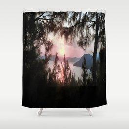 Solemn Sunset  Shower Curtain