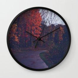 After Autumn Rain Wall Clock