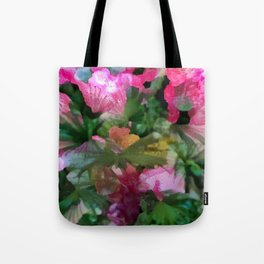 Palm Flower Tote Bag