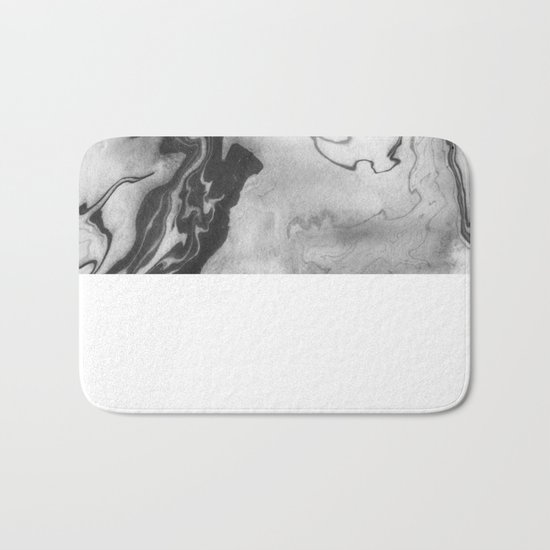 Hiroto - ink japanese marble paper free monoprint pattern marbled cell phone case india ink painting Bath Mat