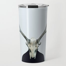 Living Skull and Horns Travel Mug