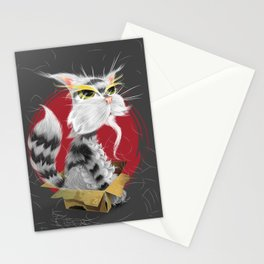 PAW MEI - The Wise Cat Stationery Cards