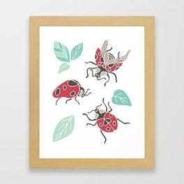 Three little Ladies Framed Art Print