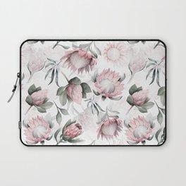 Hand Drawn Protea Flowers Pattern Laptop Sleeve