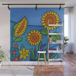 Sunflower Dance Wall Mural