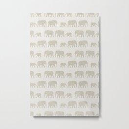 elephant march - beige Metal Print