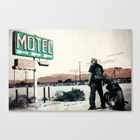 sons of anarchy Canvas Prints featuring Sons of Anarchy by PIXERS