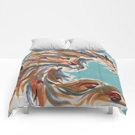 Blue flow phoenix Comforters