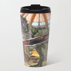 When Dinosaurs Ruled the Earth - Jurassic Park T-Rex Metal Travel Mug