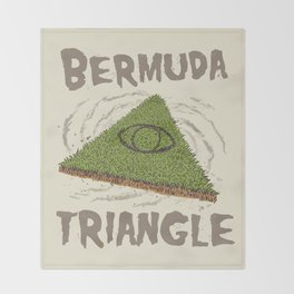 Bermuda Triangle Throw Blanket
