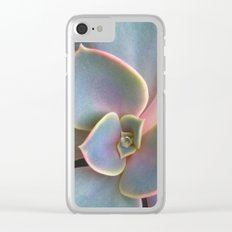 Succulent Dew Drop Clear iPhone Case
