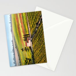 Vineyards In Tuscany Italy Stationery Cards