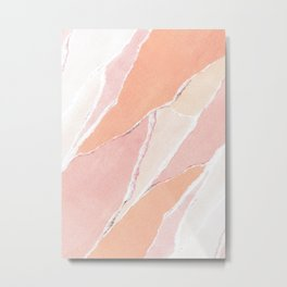 Creamsicle Abstract Metal Print