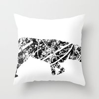 labrador Throw Pillows featuring Labrador Scribble by Jake Stanton