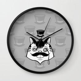 Sir Monocle Kitteh Wall Clock