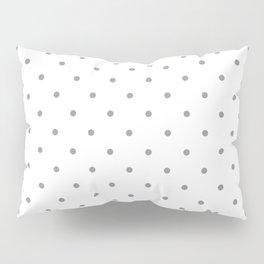 Small Grey Polka Dots Pillow Sham