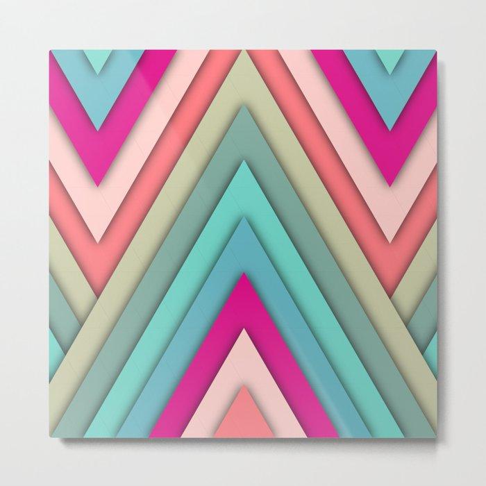 triangles pop Metal Print