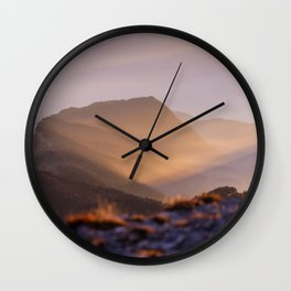 Mountian peak #society6 #buyart Wall Clock