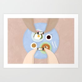 Camera eats first Art Print