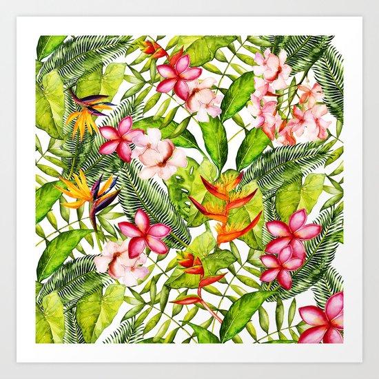 My Aloha Tropical Flower Hibiscus Garden on #Society6 Art Print