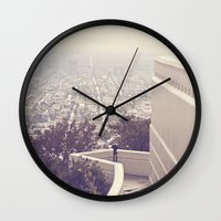vermont Wall Clocks featuring Vermont Avenue by CMcDonald