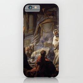 Jean-Honore Fragonard - Jeroboam Sacrificing to Idols iPhone Case