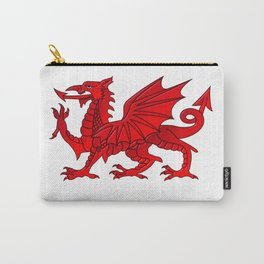 Welsh Dragon With a Bevel Effect Carry-All Pouch