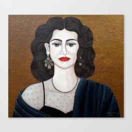 Amalia Rodrigues, the voice of the fado Canvas Print