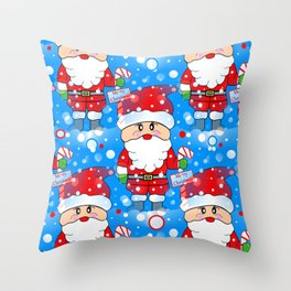 Santa Land Throw Pillow