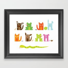 Who eats what Framed Art Print