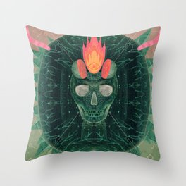 Catastrophe IV (The Green Invasion) Throw Pillow