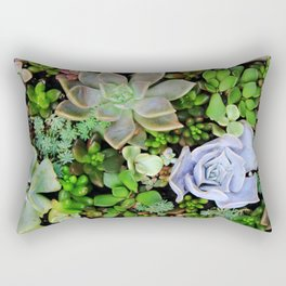 Collection of Succulents Rectangular Pillow